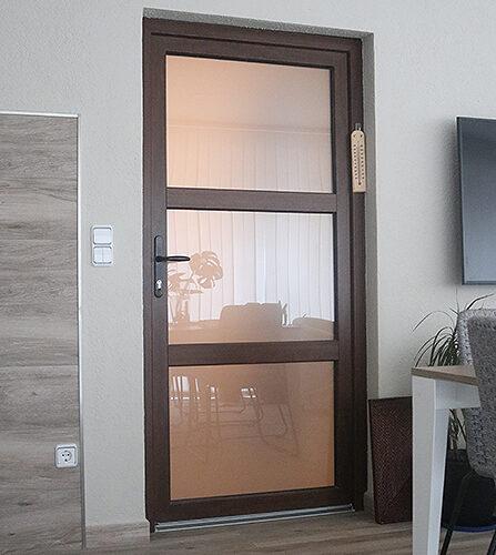 porta interior amb vidre