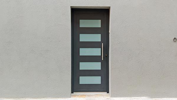 porta d'entrada d'alumini